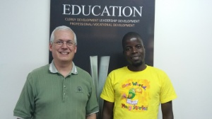 Greg welcomes Moses to Education and Clergy Development at the Africa Regional Office in South Africa.